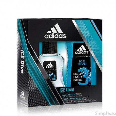 Adidas Kişi ətri (EDT) Ice Dive 50 ml + Adidas Ice Dive Duş Geli 250 ml (Kişi)