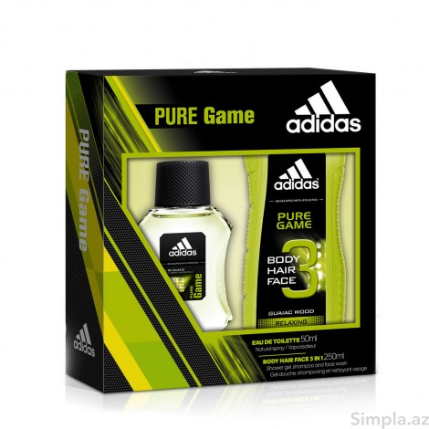 Adidas Kişi ətri (EDT) Pure Game 50 ml + Adidas Pure Game Duş Geli 250 ml (Kişi)