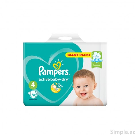 Pampers Uşaq Bezı Giant Pack №4 90lı 9-14kg