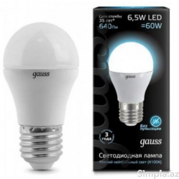 Gauss LED Lampa Ağ 6,5W E27