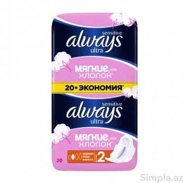 Always Ultra Sens.Normal Plus Eko.Paket 20 əd