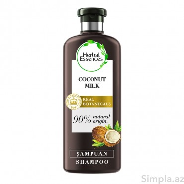 Herbal Essences Şampun Nəmləndirici Kokos Südü 400 ml