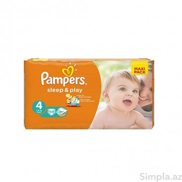 Pampers Uşaq Bezi SleepPlay №4 50li 7-18k