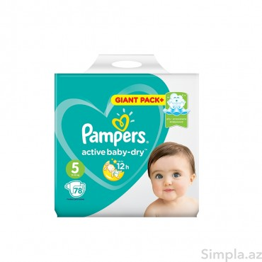 Pampers Uşaq Bezi Giant Pack №5 78li 11-16kg