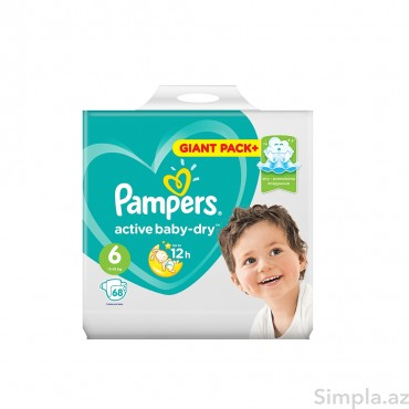 Pampers Uşaq Bezi Giant Pack №6 68li 13-18kg